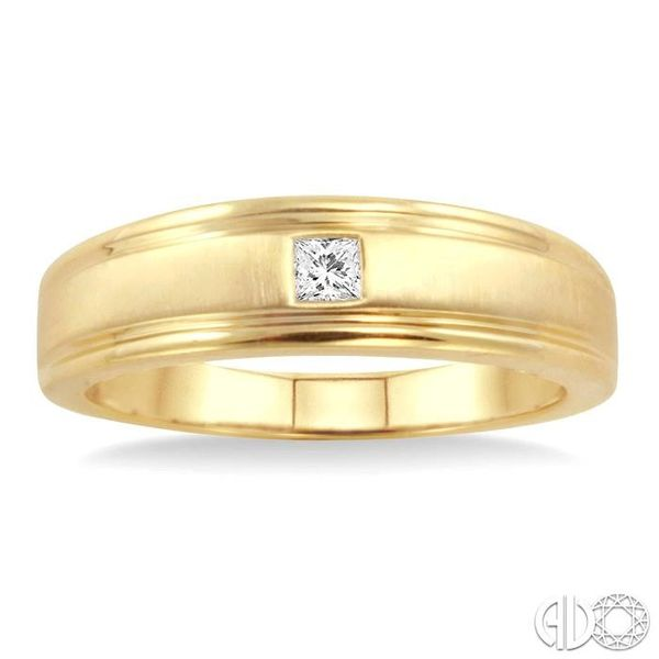 1/20 Ctw Princess Cut Diamond Ladies Duo Ring in 14K Yellow Gold Image 2 Coughlin Jewelers St. Clair, MI