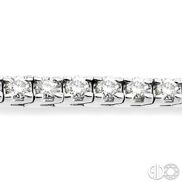 3 Ctw Square Shape Round Cut Diamond Tennis Bracelet in 14K White gold Image 3 Coughlin Jewelers St. Clair, MI