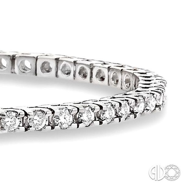 3 Ctw Square Shape Round Cut Diamond Tennis Bracelet in 14K White gold Image 2 Coughlin Jewelers St. Clair, MI