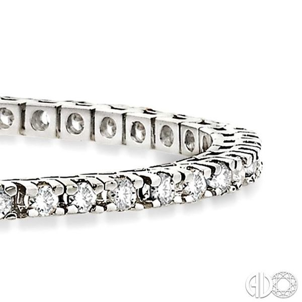 4 Ctw Square Shape Round Cut Diamond Tennis Bracelet in 14K White gold Image 2 Coughlin Jewelers St. Clair, MI