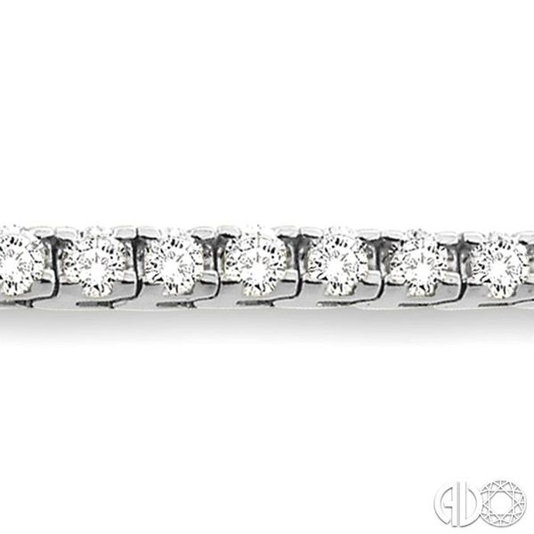 10 Ctw Square Shape Round Cut Diamond Tennis Bracelet in 14K White gold Image 3 Coughlin Jewelers St. Clair, MI