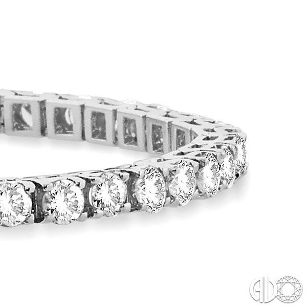 10 Ctw Square Shape Round Cut Diamond Tennis Bracelet in 14K White gold Image 2 Coughlin Jewelers St. Clair, MI