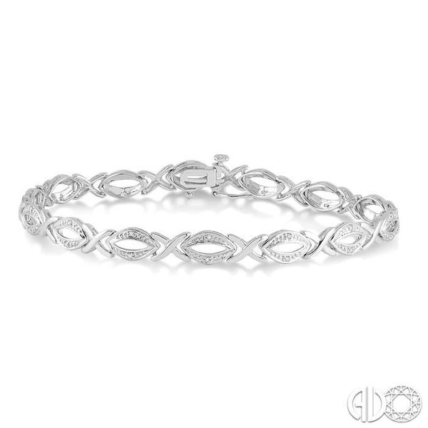 1/10 Ctw Round Cut Diamond Swirl Tennis bracelet in Sterling Silver Coughlin Jewelers St. Clair, MI