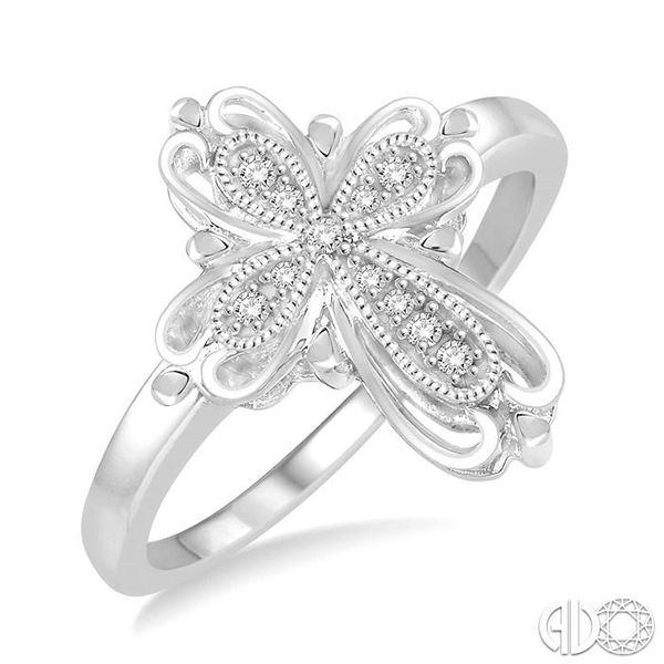 1/20 Ctw Round Cut Diamond Cross Ring in Sterling Silver Coughlin Jewelers St. Clair, MI