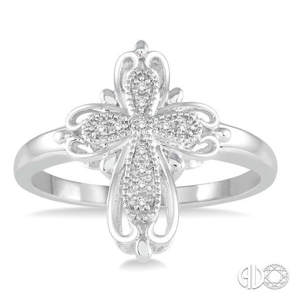 1/20 Ctw Round Cut Diamond Cross Ring in Sterling Silver Image 2 Coughlin Jewelers St. Clair, MI