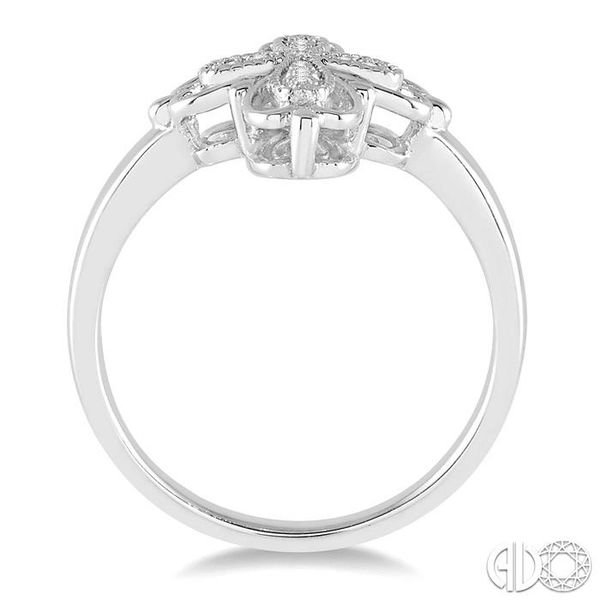 1/20 Ctw Round Cut Diamond Cross Ring in Sterling Silver Image 3 Coughlin Jewelers St. Clair, MI