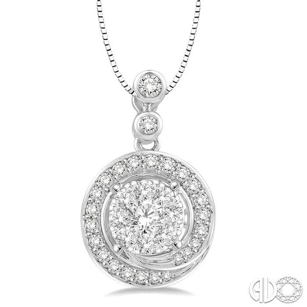 1/2 Ctw Diamond Lovebright Pendant in 14K White Gold with Chain Coughlin Jewelers St. Clair, MI