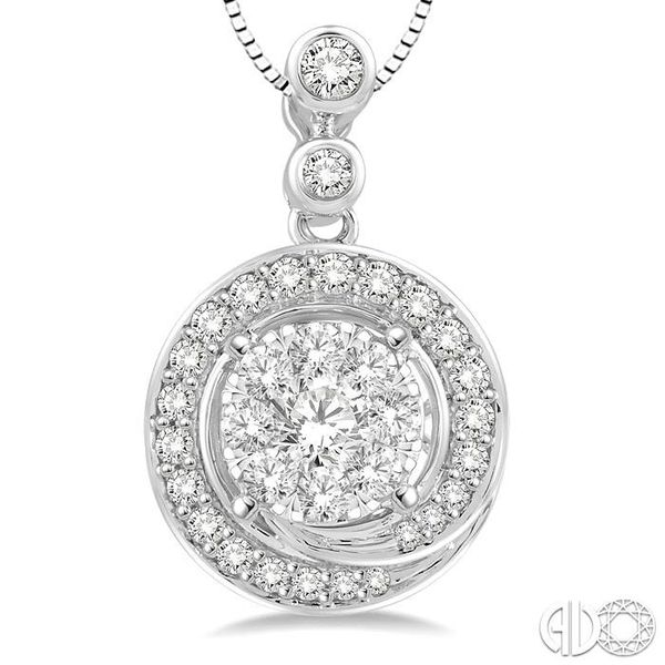 1/2 Ctw Diamond Lovebright Pendant in 14K White Gold with Chain Image 3 Coughlin Jewelers St. Clair, MI