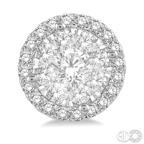 1 Ctw Lovebright Round Cut Diamond Stud Earrings in 14K White Gold Image 2 Coughlin Jewelers St. Clair, MI