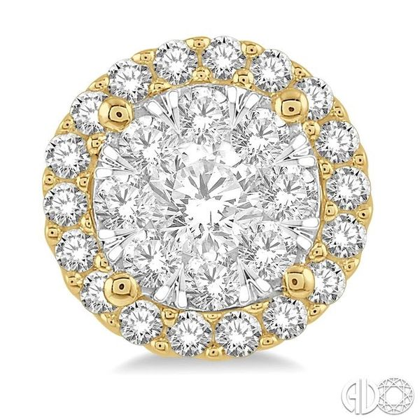 1/2 Ctw Lovebright Round Cut Diamond Stud Earrings in 14K Yellow and White Gold Image 2 Coughlin Jewelers St. Clair, MI