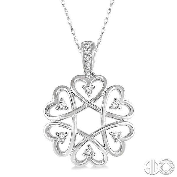 1/10 ctw Infinity Heart Round Cut Diamond Pendant With Chain in 10K White Gold Coughlin Jewelers St. Clair, MI