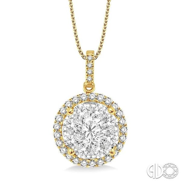 2 Ctw Lovebright Round Cut Diamond Pendant in 14K Yellow Gold with Chain Coughlin Jewelers St. Clair, MI