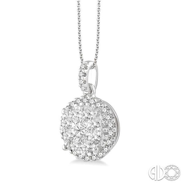 1 Ctw Lovebright Round Cut Diamond Pendant in 14K White Gold with Chain Image 2 Coughlin Jewelers St. Clair, MI