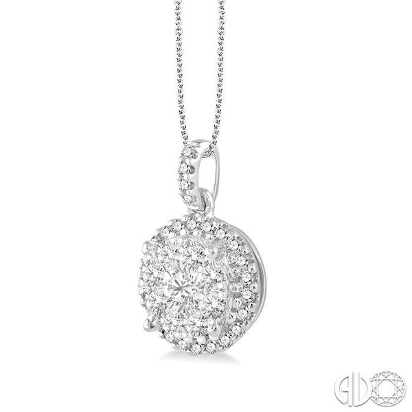 3/4 Ctw Lovebright Round Cut Diamond Pendant in 14K White Gold with Chain Image 2 Coughlin Jewelers St. Clair, MI