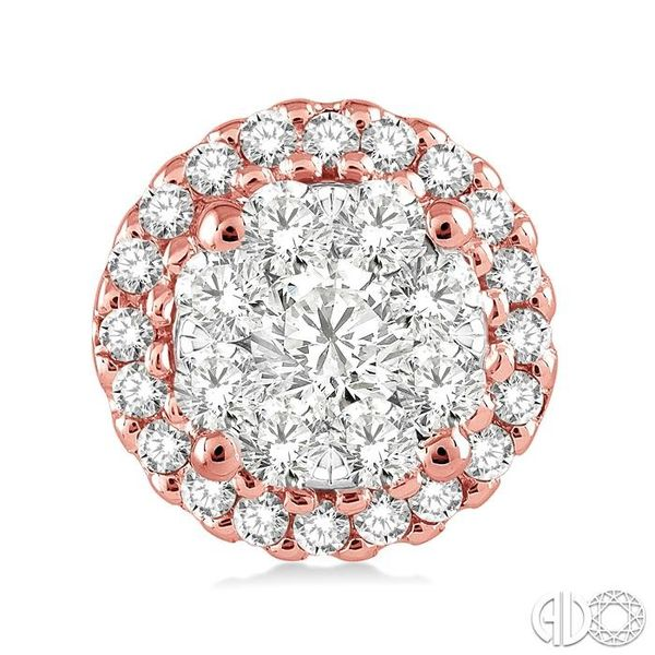 1/2 Ctw Lovebright Round Cut Diamond Earrings in 14K Rose and White Gold Image 2 Coughlin Jewelers St. Clair, MI