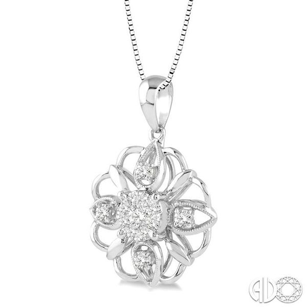 1/3 Ctw Diamond Lovebright Pendant in 14K White Gold with Chain Image 2 Coughlin Jewelers St. Clair, MI