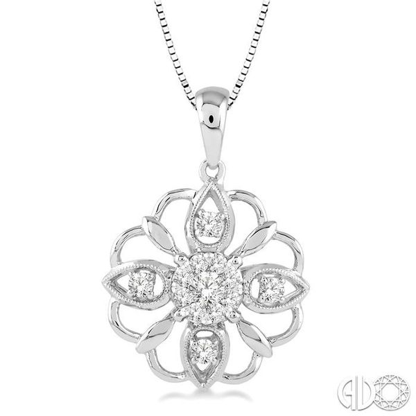 1/3 Ctw Diamond Lovebright Pendant in 14K White Gold with Chain Coughlin Jewelers St. Clair, MI