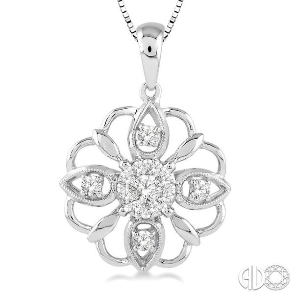 1/3 Ctw Diamond Lovebright Pendant in 14K White Gold with Chain Image 3 Coughlin Jewelers St. Clair, MI