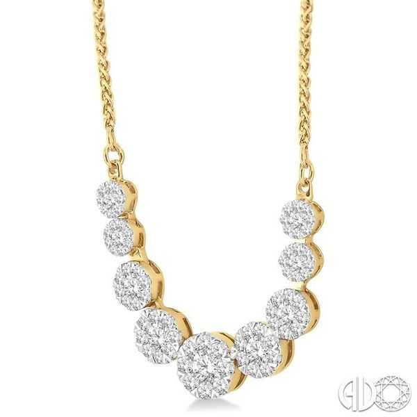1 Ctw Round Cut Diamond Lovebright Necklace in 14K Yellow and White Gold Image 2 Coughlin Jewelers St. Clair, MI
