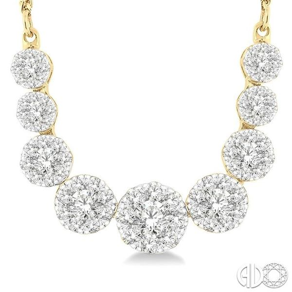 1 Ctw Round Cut Diamond Lovebright Necklace in 14K Yellow and White Gold Image 3 Coughlin Jewelers St. Clair, MI