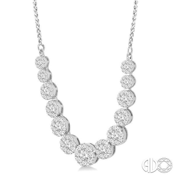 2 Ctw Round Cut Diamond Lovebright Necklace in 14K White Gold Image 2 Coughlin Jewelers St. Clair, MI