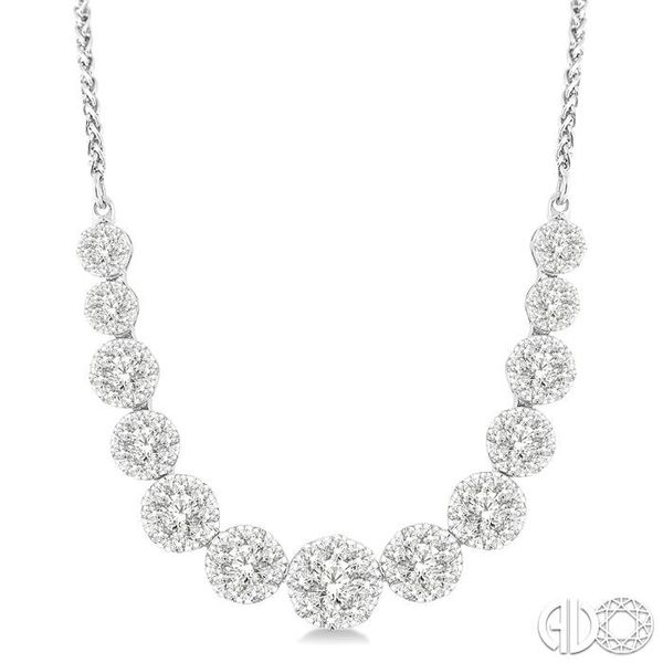 2 Ctw Round Cut Diamond Lovebright Necklace in 14K White Gold Coughlin Jewelers St. Clair, MI