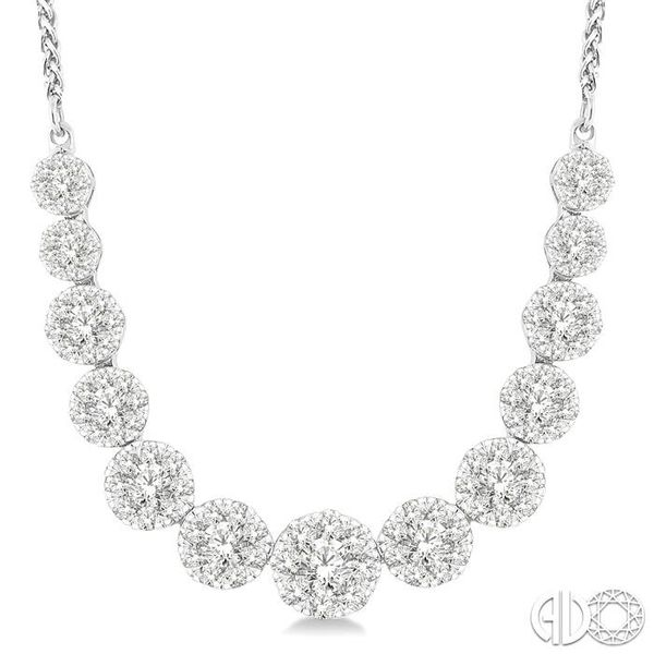 2 Ctw Round Cut Diamond Lovebright Necklace in 14K White Gold Image 3 Coughlin Jewelers St. Clair, MI
