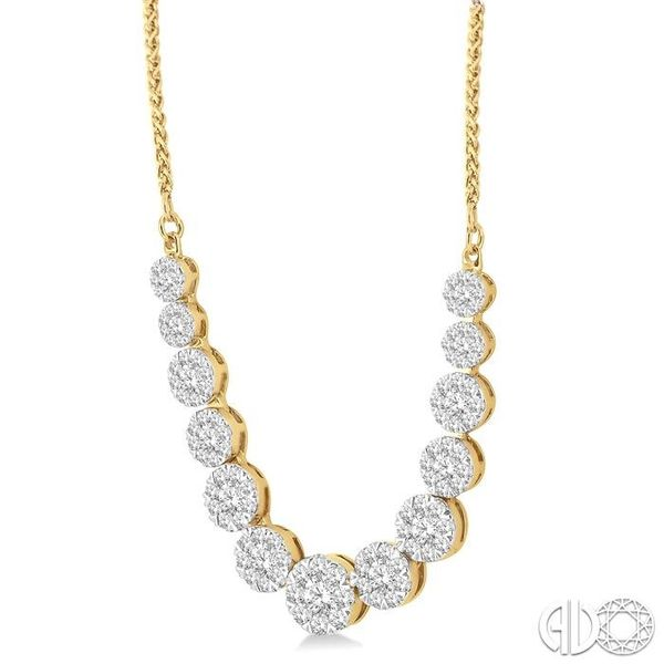 2 Ctw Round Cut Diamond Lovebright Necklace in 14K Yellow Gold Image 2 Coughlin Jewelers St. Clair, MI