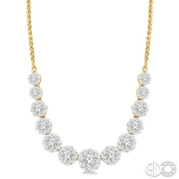 2 Ctw Round Cut Diamond Lovebright Necklace in 14K Yellow Gold Coughlin Jewelers St. Clair, MI