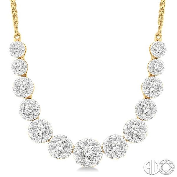 2 Ctw Round Cut Diamond Lovebright Necklace in 14K Yellow Gold Image 3 Coughlin Jewelers St. Clair, MI