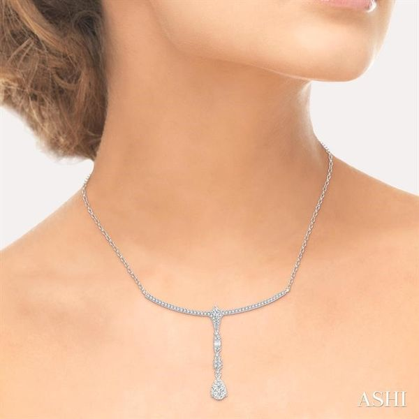 1 1/4 Ctw Diamond Lovebright Necklace in 14K White Gold Image 4 Coughlin Jewelers St. Clair, MI