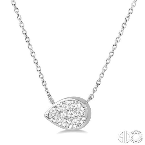 1/4 Ctw Pear Shape Pendant Lovebright Diamond Necklace in 14K White Gold Image 2 Coughlin Jewelers St. Clair, MI