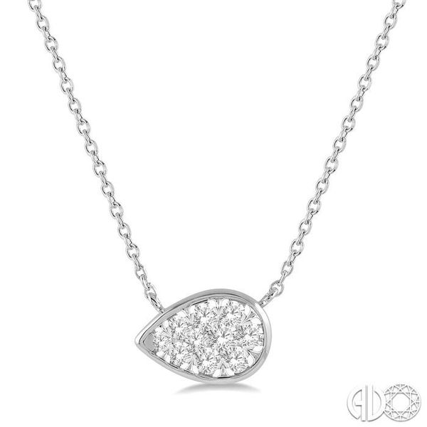 1/4 Ctw Pear Shape Pendant Lovebright Diamond Necklace in 14K White Gold Coughlin Jewelers St. Clair, MI