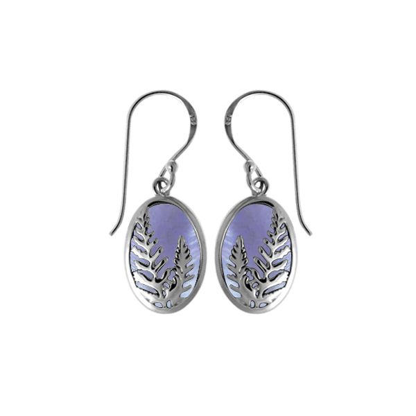 Purple Mother Of Pearl Earrings Darrah Cooper, Inc. Lake Placid, NY