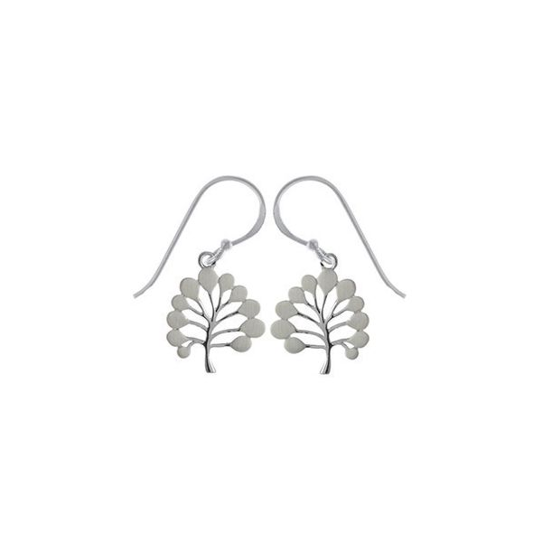 Satin and Polished Tree Earrings Darrah Cooper, Inc. Lake Placid, NY