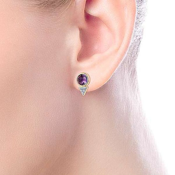Amethyst and Diamond Earrings Image 2 Darrah Cooper, Inc. Lake Placid, NY