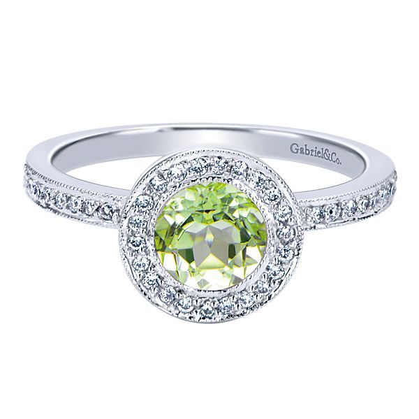 Peridot and Diamond Ring Image 4 Darrah Cooper, Inc. Lake Placid, NY