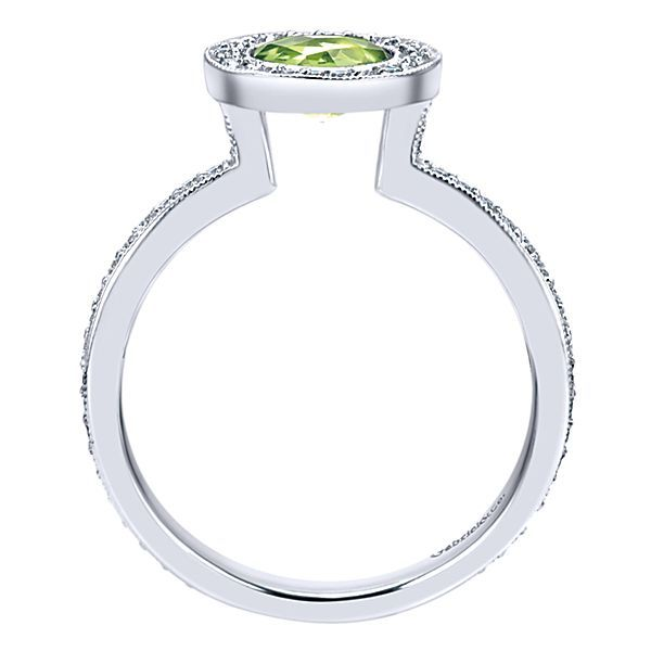 Peridot and Diamond Ring Image 3 Darrah Cooper, Inc. Lake Placid, NY