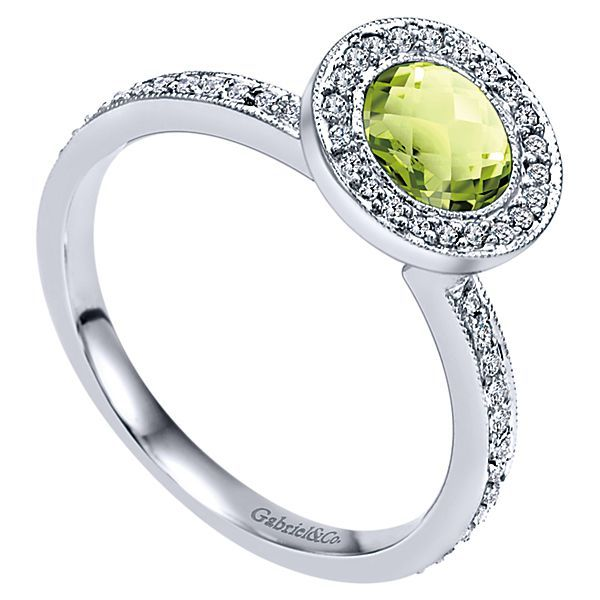 Peridot and Diamond Ring Image 2 Darrah Cooper, Inc. Lake Placid, NY