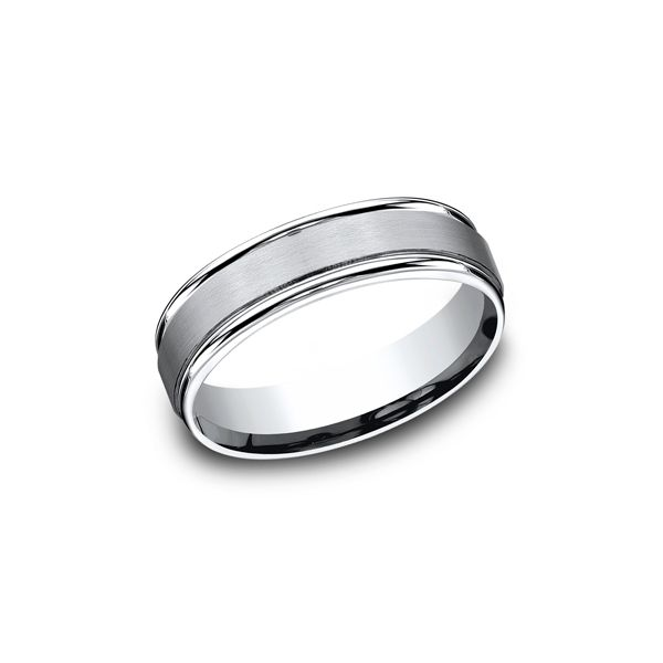Cobalt Chrome Satin and Polished Comfort Fit Band-6mm Darrah Cooper, Inc. Lake Placid, NY