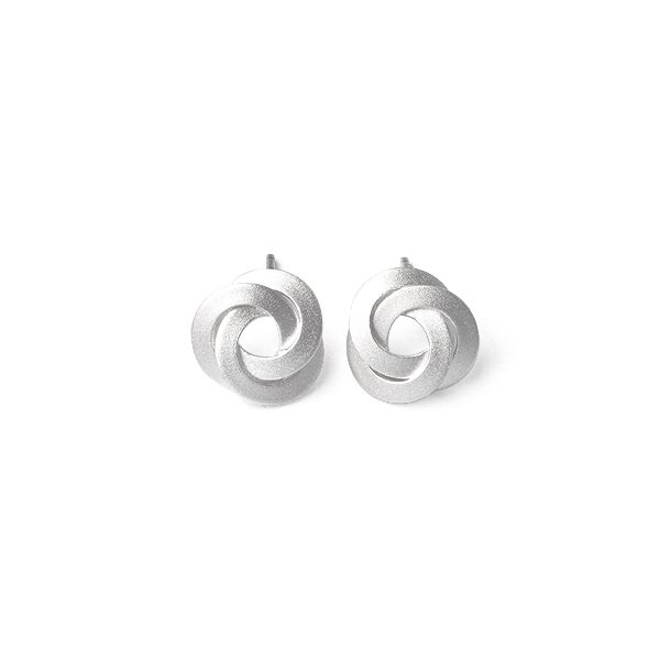 Satin Knot Post Earrings Darrah Cooper, Inc. Lake Placid, NY