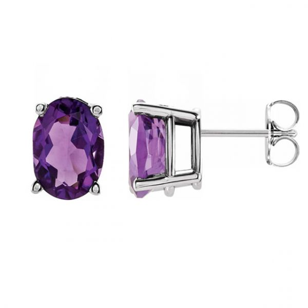 Basket Stud Earrings Image 2 David Douglas Diamonds & Jewelry Marietta, GA