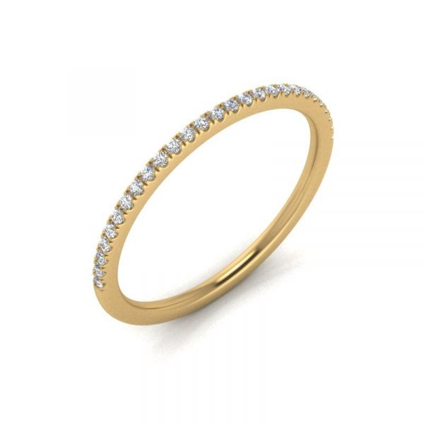 14k 1/10 CTW Micro Pave Lab Grown Diamond Band Image 3 David Douglas Diamonds & Jewelry Marietta, GA