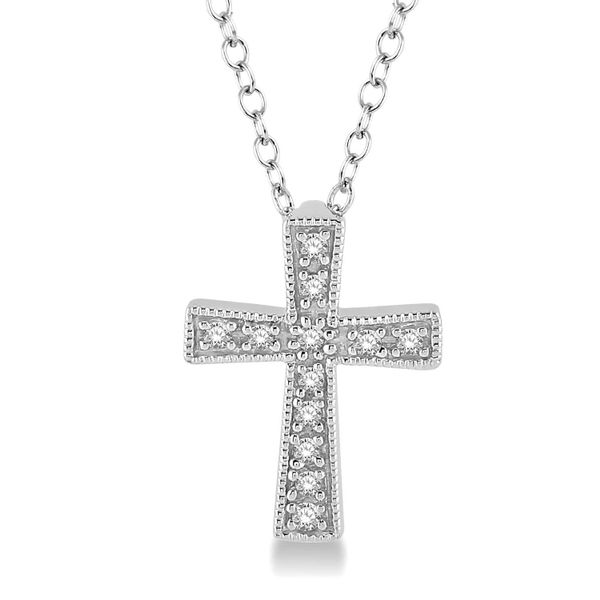 Silver Diamond Cross Pendant D. Geller & Son Jewelers Atlanta, GA