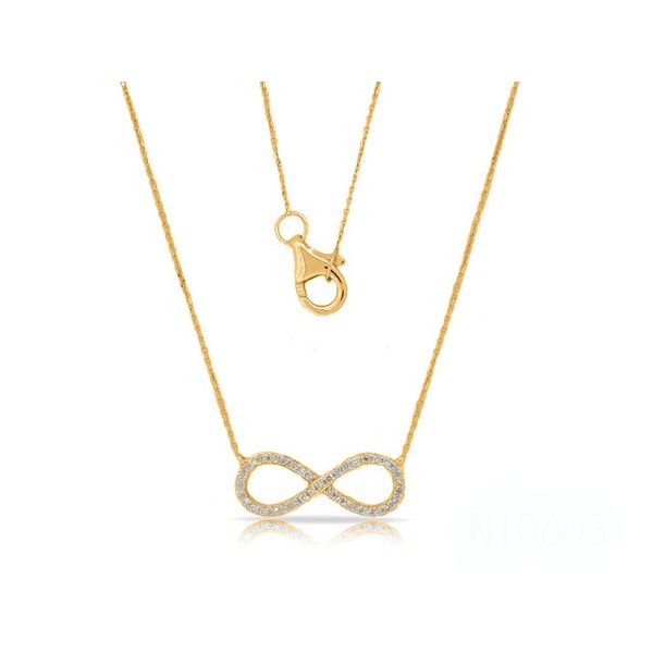 14K Diamond Infinity Necklace D. Geller & Son Jewelers Atlanta, GA