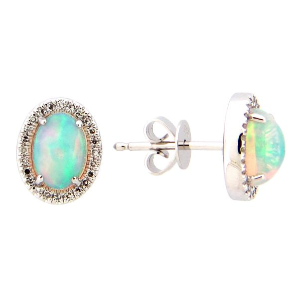 14K Opal & Diamond Earrings D. Geller & Son Jewelers Atlanta, GA