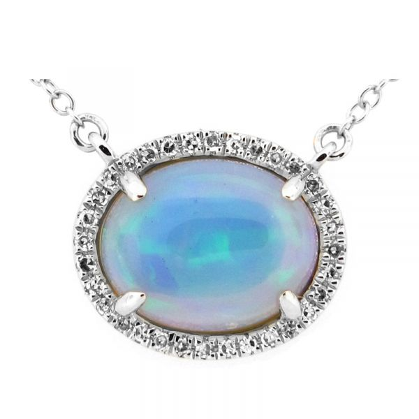 14K Opal & Diamond Necklace D. Geller & Son Jewelers Atlanta, GA