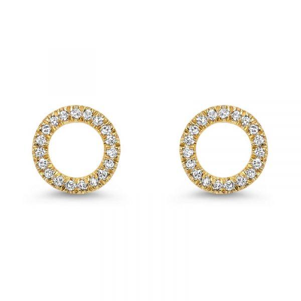 Bridal Bells Yellow Gold Diamond Earrings Er10022 4ysc D Geller Son Jewelers Atlanta Ga