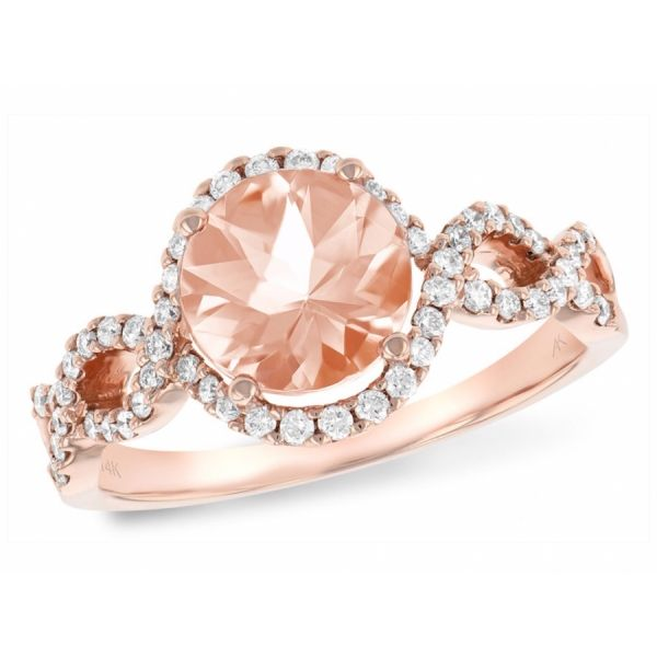 Morganite and Diamond Infinity Ring DJ's Jewelry Woodland, CA