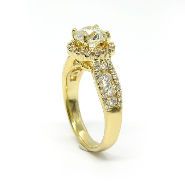 14k Yellow Gold Diamond Engagement Ring with 1.33ct Round Diamond Image 2 Arezzo Jewelers Chicago, IL